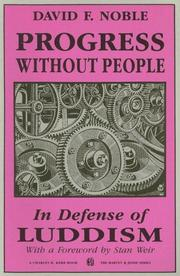 Cover of: Progress without people | Noble, David F.