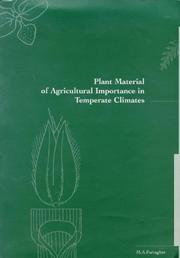 Cover of: Plant material of agricultural importance in temperate climates | M. A. Farragher