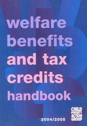 Cover of: Welfare Benefits and Tax Credits Handbook | Caroline George