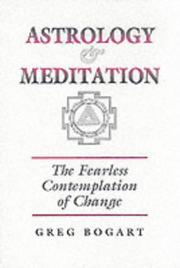 Cover of: Astrology and Meditation | Greg Bogart