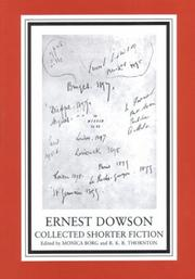 Cover of: Collected shorter fiction | Ernest Christopher Dowson