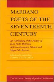 Cover of: Marrano Poets of the Seventeenth Century | Timothy Oelman