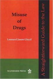 Cover of: Misuse of drugs | Leonard Jason-Lloyd