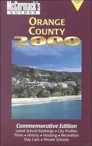 Cover of: McCormack's Guides Orange County 2000 | Don McCormack