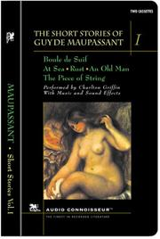 Cover of: The Short Stories of Guy de Maupassant, Volume I by Guy de Maupassant