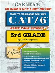 Cover of: How to Prepare For the CAT/6 3rd Grade | Jon Weingarten