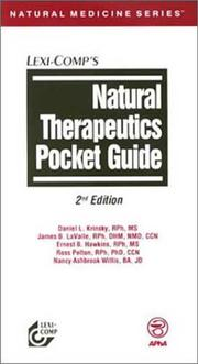 Cover of: Natural therapeutics pocket guide | Daniel L. Krinsky