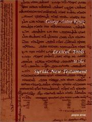 Cover of: Lexical Tools to the Syriac New Testament | Sebastian P. Brock