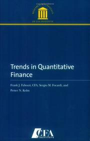 Cover of: Trends in Quantitative Finance | Frank J. Fabozzi