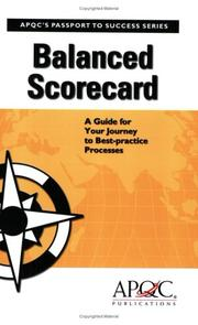 Cover of: Balanced Scorecard | John Crager; Cindy Hubert; Mike O'Kane