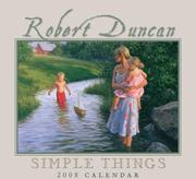 Cover of: Robert Duncan Simple Things | Robert Duncan