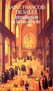 Cover of: Introduction a La Vie Devote | Francois de Sales