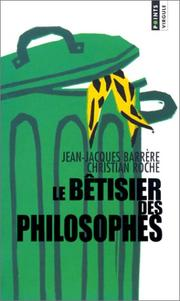 Cover of: Le bêtisier des philosophes by Christian Roche