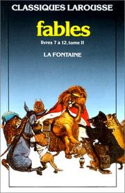 Cover of: Fables Choisies 2* by Jean de La Fontaine