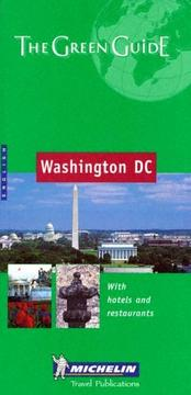 Cover of: Michelin The Green Guide Washington, DC by Not Applicable (Na )
