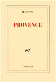 Cover of: Provence | Jean Giono