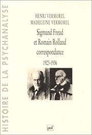 Cover of: Sigmund Freud et Romain Rolland | Henri Vermorel