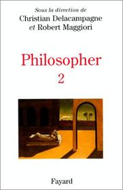Cover of: Philosopher T.2 | Delacampagne