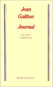 Cover of: Journal de ma vie | Jean Guitton