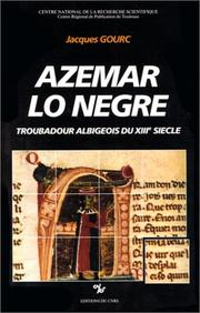 Cover of: Azemar lo Negre by Jacques Gourc