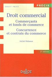 Cover of: Droit commercial | Michel Pédamon