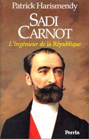 Cover of: Sadi Carnot | Patrick Harismendy