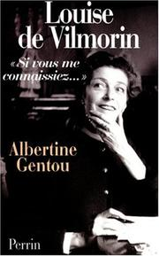 Cover of: Louise de Vilmorin | Albertine Gentou