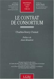 Cover of: Le contrat de consortium by Charles-Henry Chenut