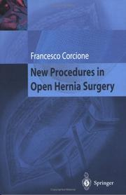 Cover of: New Procedures in Open Hernia Surgery | Francesco Corcione