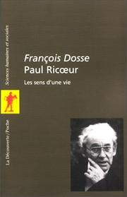 Cover of: Paul Ricoeur by François Dosse