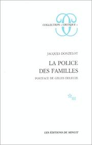 Cover of: La police des familles by Jacques Donzelot