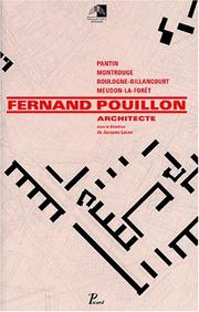 Cover of: Fernand Pouillon, architecte | Fernand Pouillon