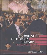 Cover of: L' orchestre de l'Opéra de Paris by Agnès Terrier