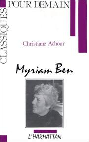Cover of: Myriam Ben | Christiane Chaulet-Achour