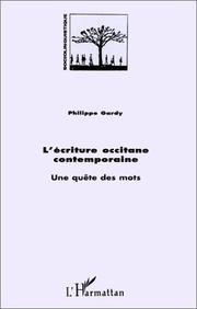 Cover of: L' écriture occitane contemporaine by Philippe Gardy