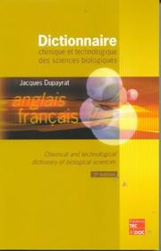 Cover of: Chemical & Technological Dictionary by Dupayrat Jacques