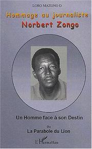 Cover of: Hommage au journaliste Norbert Zongo by Loro Mazono D