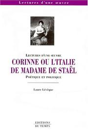 Cover of: Corinne, ou, L'Italie by Laure Lévêque