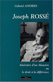 Cover of: Joseph Rossé by Gabriel Andres