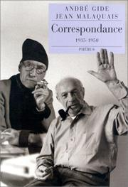 Cover of: Correspondence | André Gide, André Gide