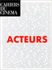 Cover of: Acteurs |