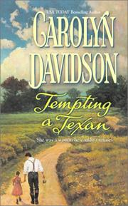 Cover of: Tempting a Texan | Carolyn Davidson