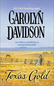 Cover of: Texas Gold by Carolyn Davidson