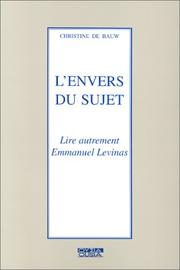 Cover of: L' envers du sujet | Christine de Bauw