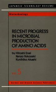 Cover of: Recent progress in microbial production of amino acids by Hitoshi Enei