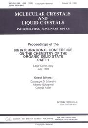 Cover of: Ninth International Conference on the Chemistry of the Organic Solid State by Di Silvestro
