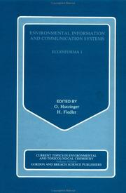 Cover of: Environmental Information and Communication System by O. Hutzinger