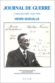 Cover of: Journal de guerre | Henri Queuille