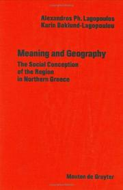 Cover of: Meaning and geography | Alexandros Ph Lagopoulos