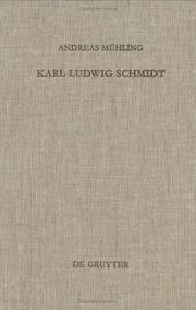 Cover of: Karl Ludwig Schmidt | Andreas Mühling